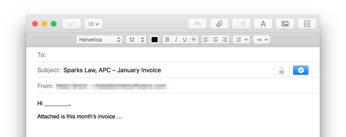 email window