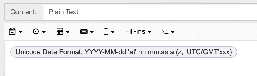 snippet showing date format for email signature