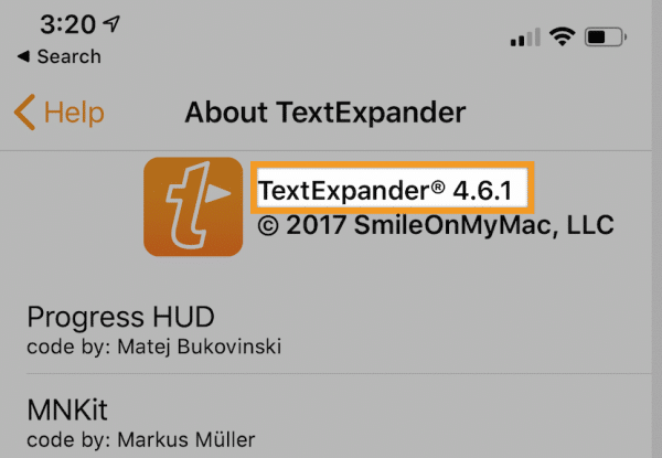 About TextExpander on iOS