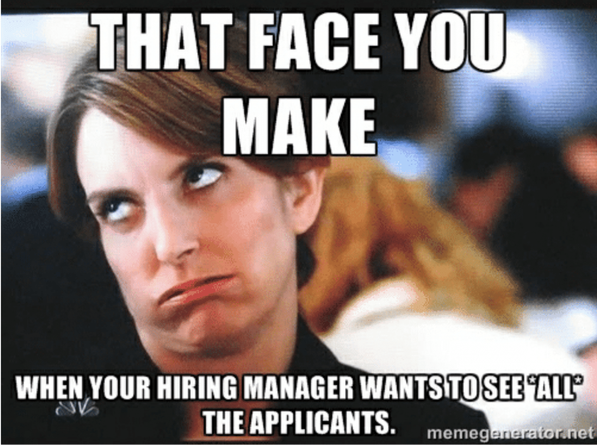hiring manager recruitment meme