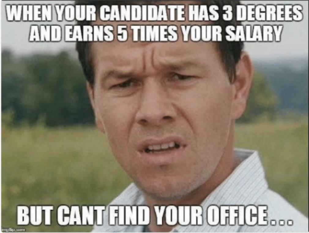 lost candidate recruitment meme