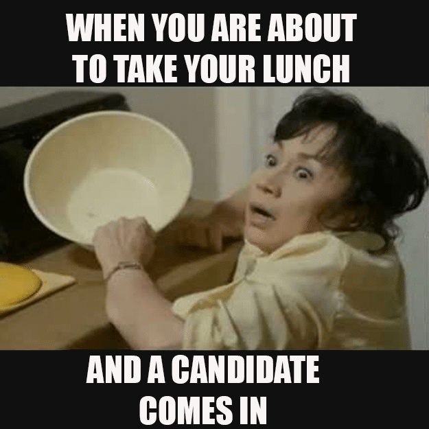 busy recruiter recruitment meme