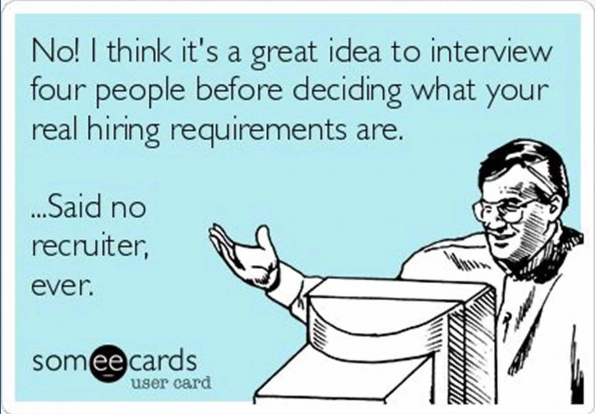 hiring manager recruitment meme