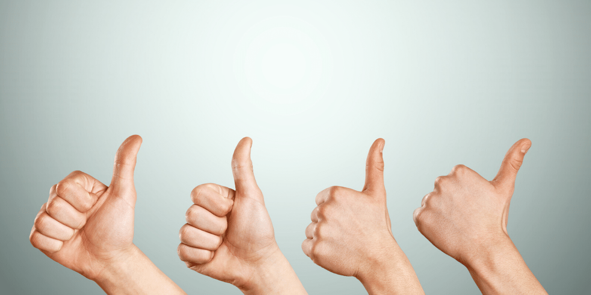 four thumbs up