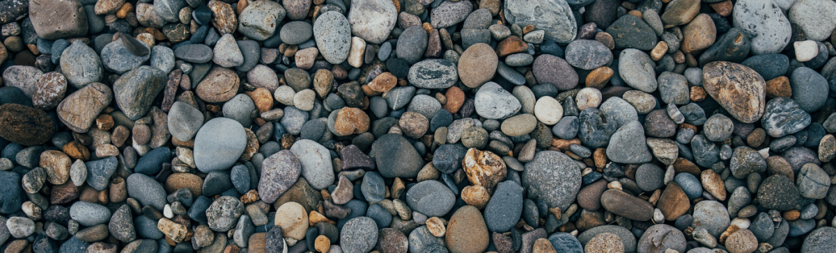 Image of different types of pebbles to express diversity.