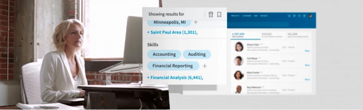 Screenshot of LinkedIn Recruiter, recruitment app #1 on our list.