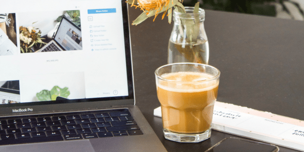 Coffee with computer