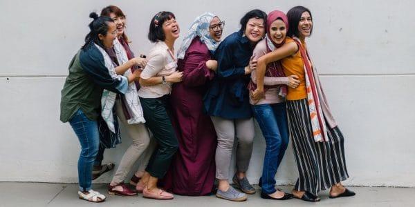 Women in line showing workplace diversity