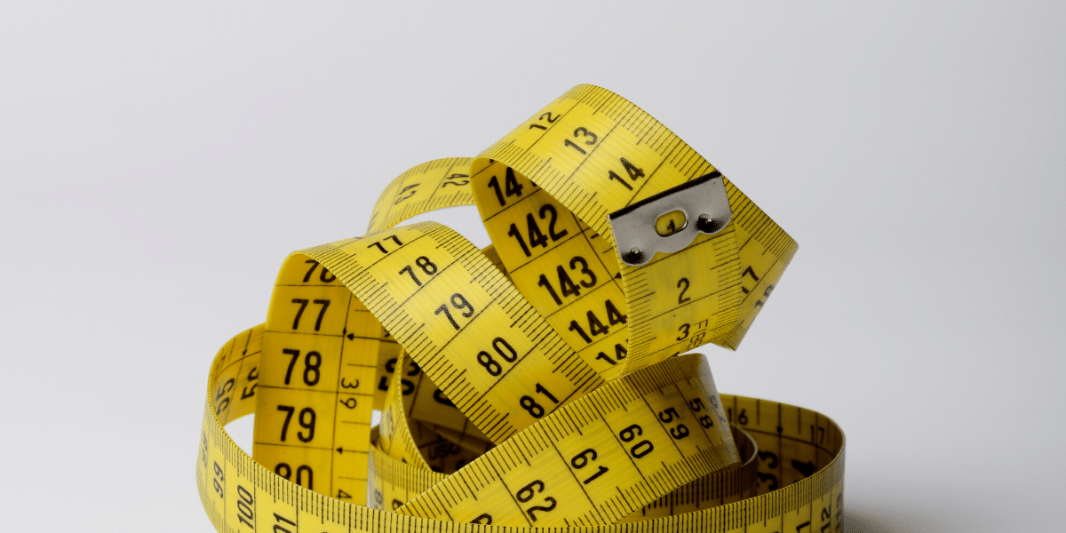 measuring tape in a pile
