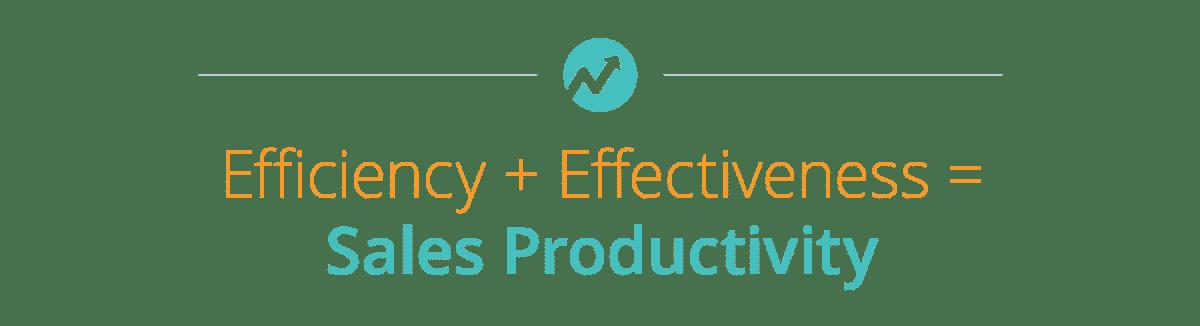 Efficiency + Effectiveness = Sales Productivity