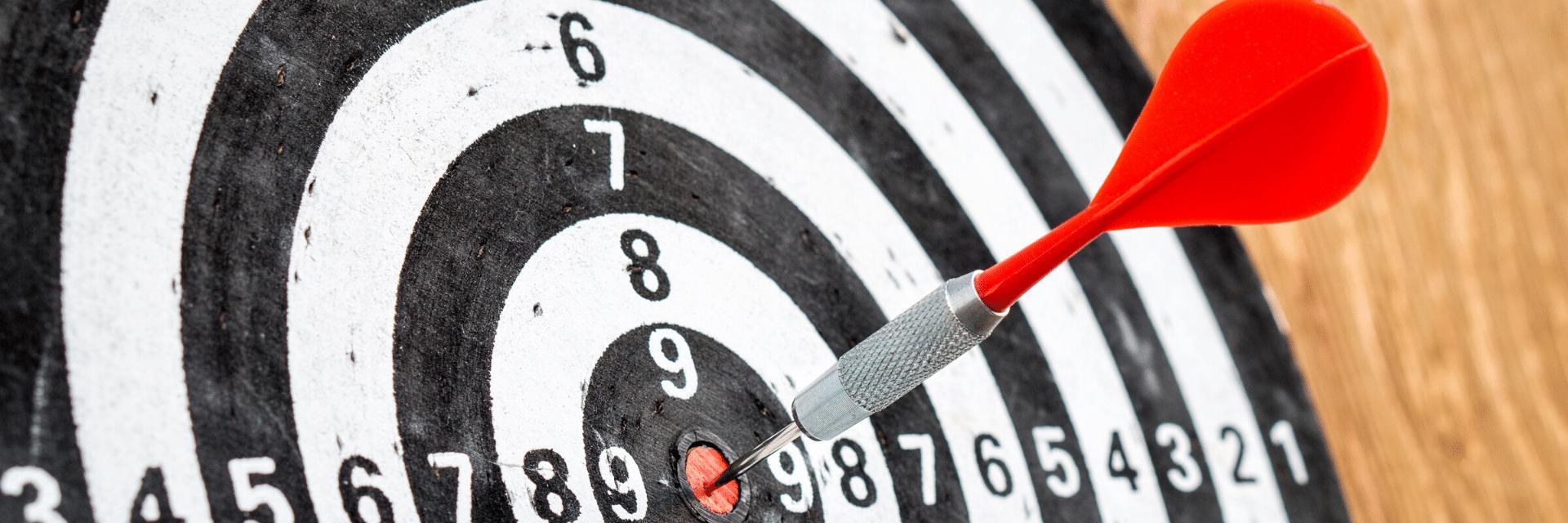 target on a dart board