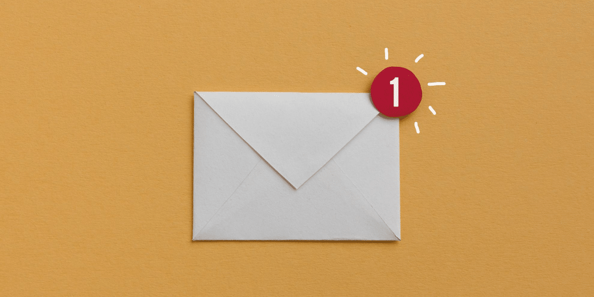 envelope with 1 notification