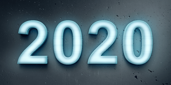 blue pale 2020 on dark blue background