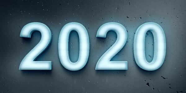 blue pale 2020 on dark blue background