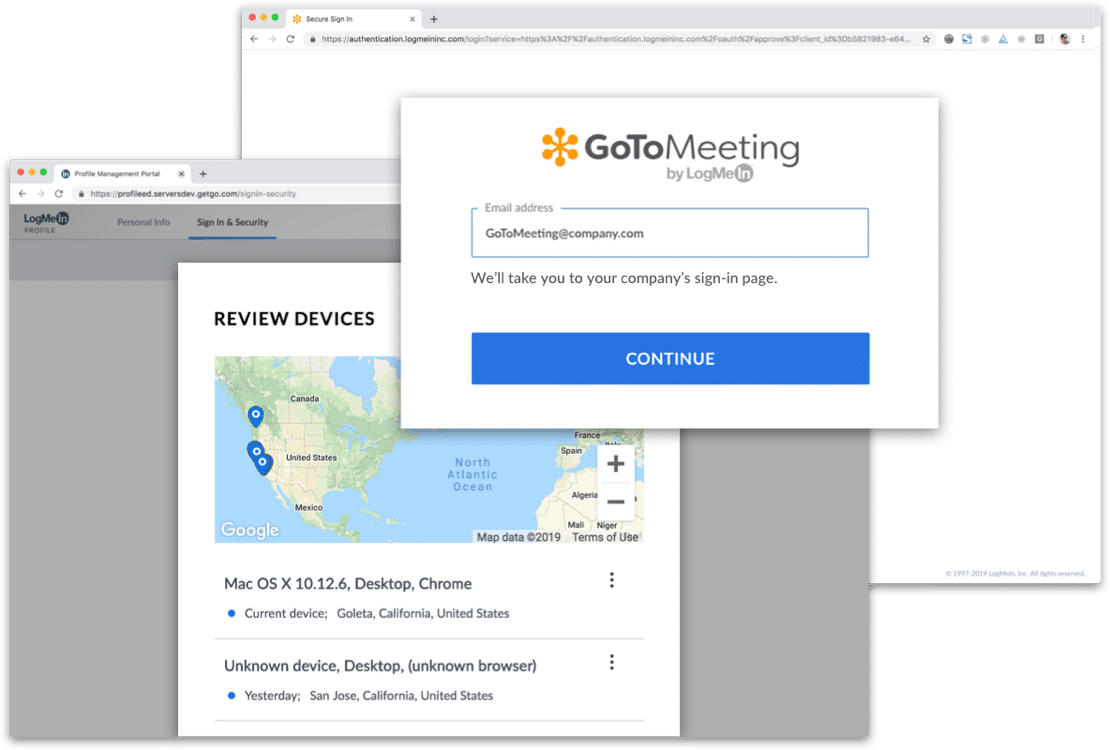 GoToMeeting on laptop