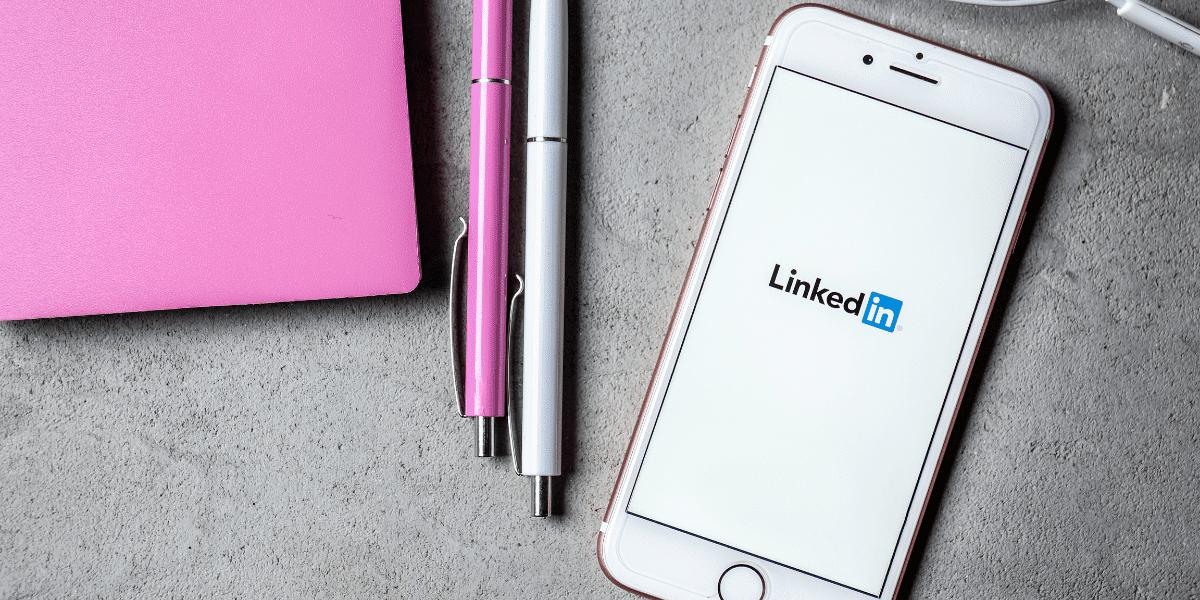 a phone with LinkedIn loading