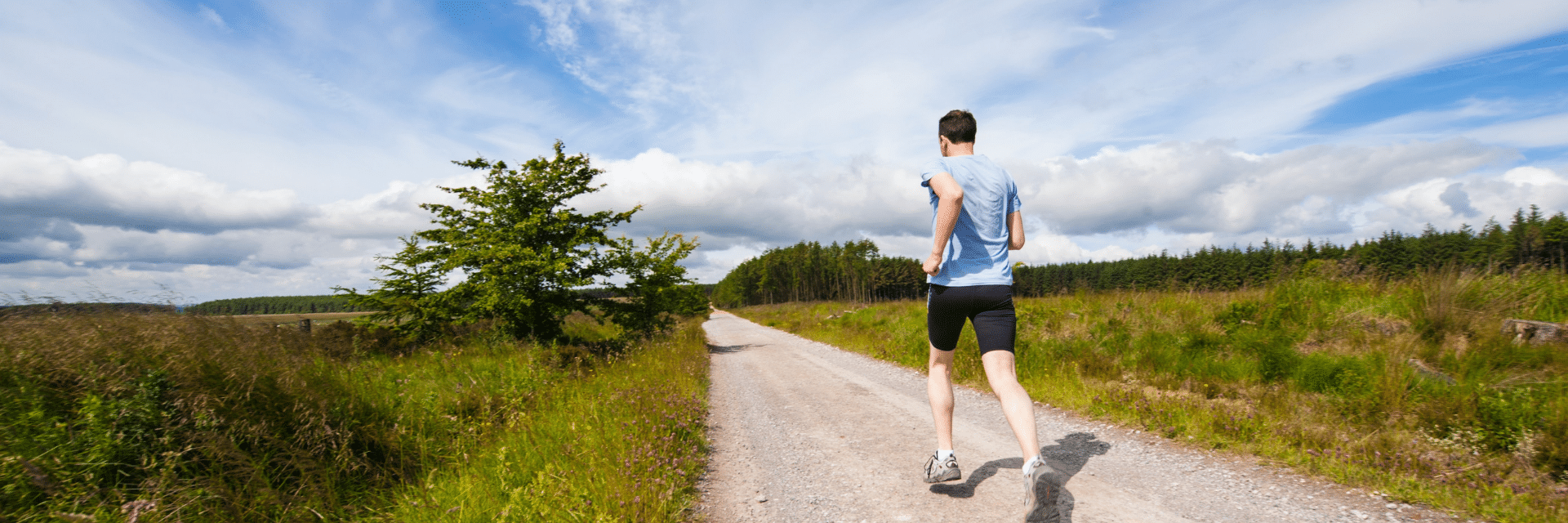 Man jogging as a representation of work life balance